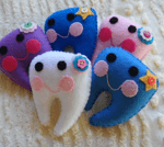 Adorable Handmade Tooth Pillows