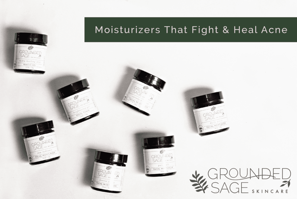 moisturizers for acne/ green beauty / acne care / facial moisturizer / ingredients that fight acne