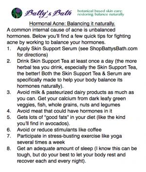 hormonal acne balancig