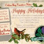holiday shop closer announcement 2