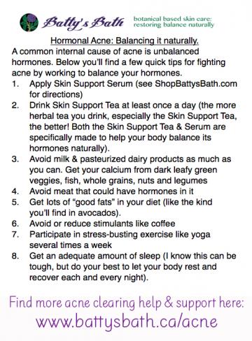 hormonal acne balancing tips