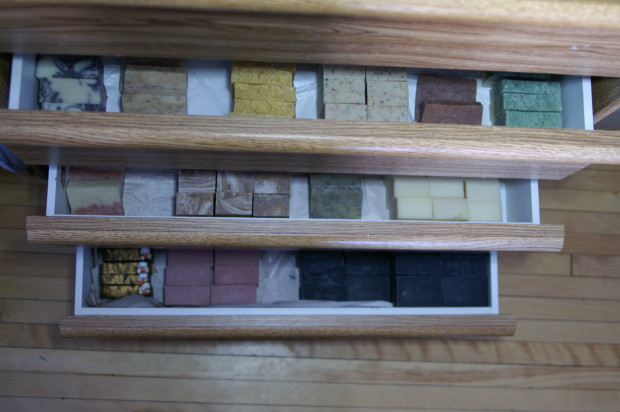 Ever wonder how i store all my soaps? In a dresser of course ;) lol (April 1st)