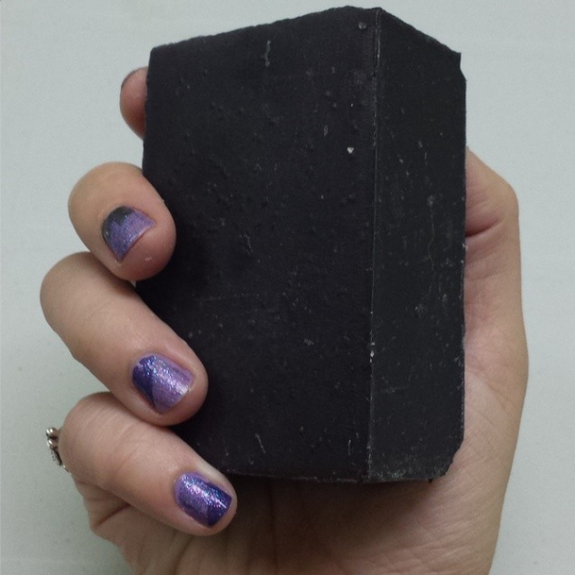 Natural skin care with charcoal detoxifying soap bar