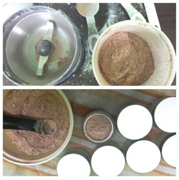 Making mineral foundation