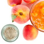 """Since it's """"National Peach Blossom Day"""" (and the blustering snow + freezing rain outside right now has me longing for spring), I'm wiping on some of our new peach blush .. winter blues don't stand a chance against the sweet shimmer and peachy color hehe. What are you doing today to keep the winter blues from settling in? (March 3rd)"""