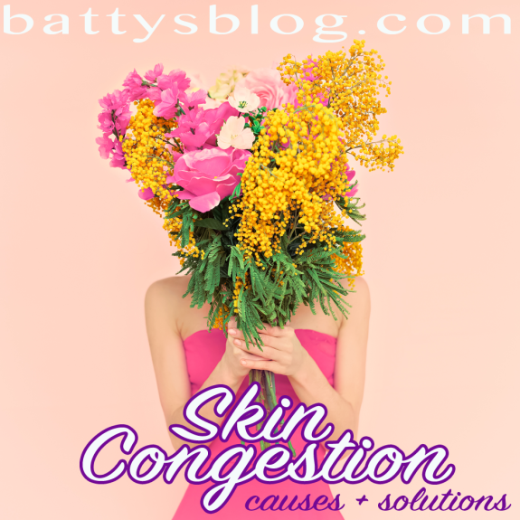 Common cause of acne - congestion - this post pin points causes and provides solutions