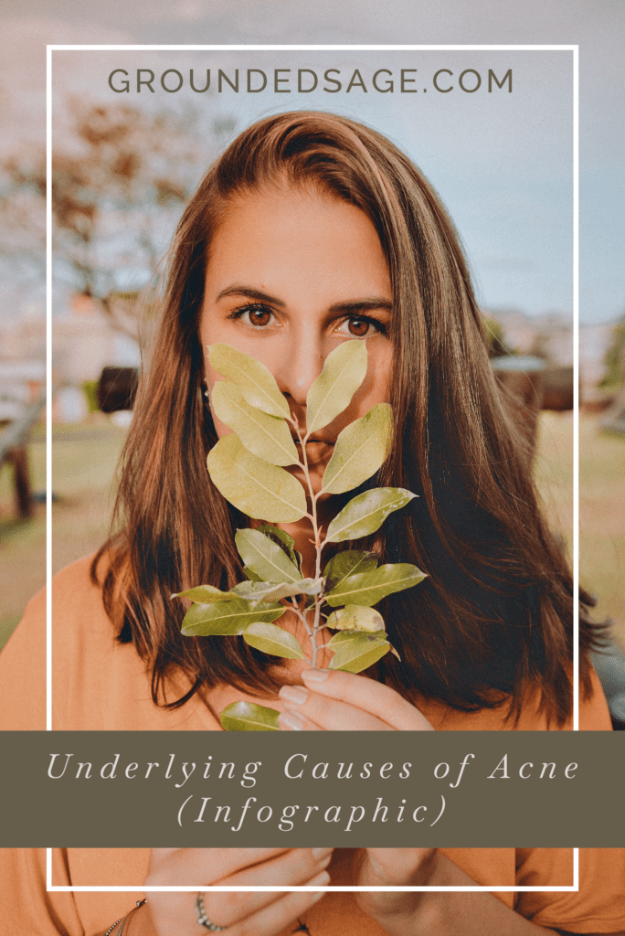 underlying causes of acne/ acne care/ acne skincare/ holistic beauty / green beauty/ internal healing for acne