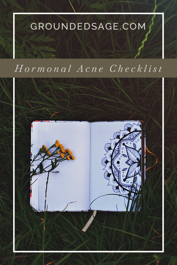 hormonal acne checklist / green beauty / acne solutions / holistic beauty