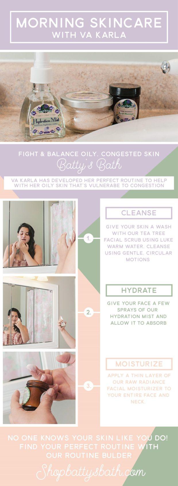 Morning skin care routine for VA Karla who