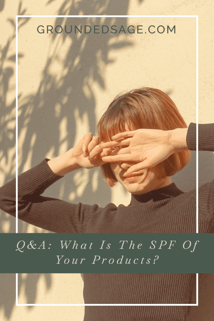 What you need to know about SPF in our products // green beauty / eco beauty / sun protection