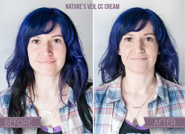 Natural CC Cream Coverage Before and After