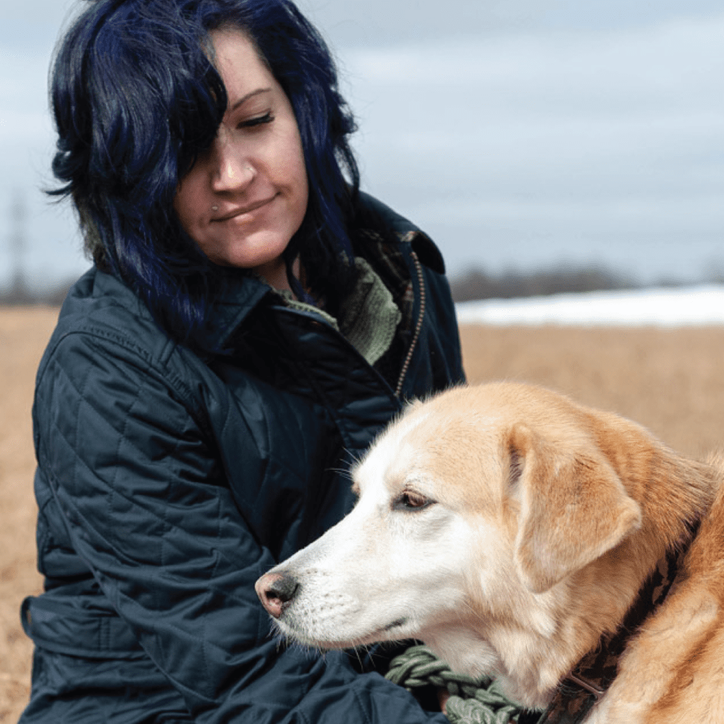 Grounded Sage Skincare founder with one of her rescue dogs in rural Ontario Canada. Living a slow simple life and making mindful holistic focused wellness products for the skin - naturally and organically - with mother nature's natural ingredients