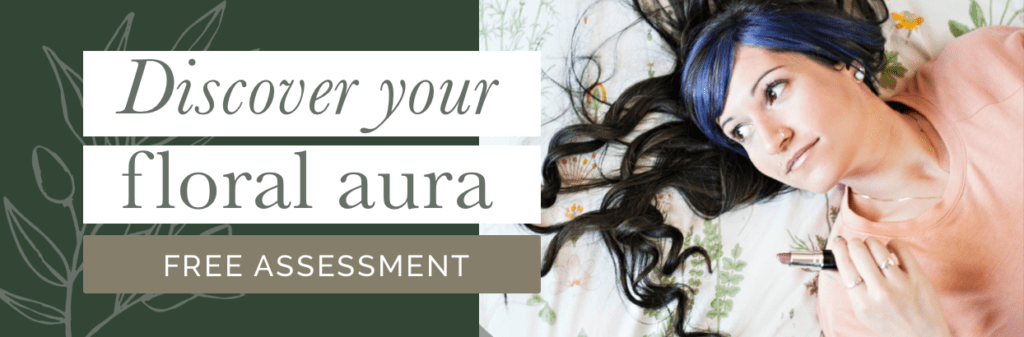 floral aura skin assessment / skin type / green beauty / eco beauty / skincare