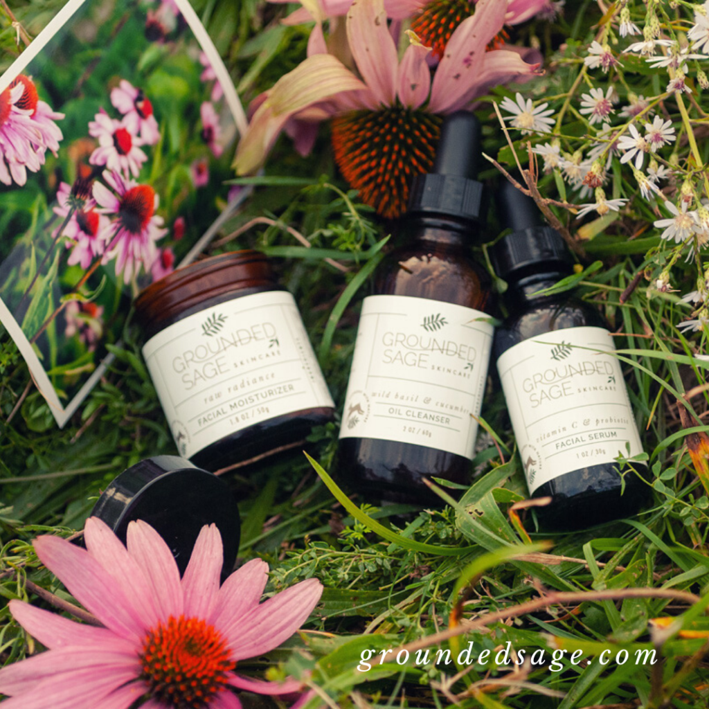 Natural Skincare Routine Ideas for Spring with Beauty Products infused with Real Flowers, Organic Wildflowers, and Plant Essence. Healthy Clean Skin Care