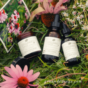 Natural Spring Skincare Routine with Beauty Products infused with Real Flowers, Organic Wildflowers, and Plant Essence. Healthy Clean Skin Care