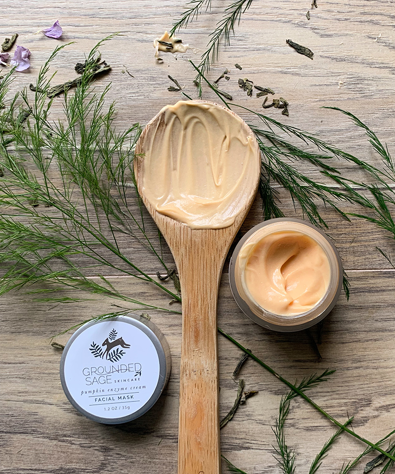 Pumpkin Enzyme Face Mask - Clean Skicnare - Cruelty Free Skin Care by Grounded Sage. Small batch botanical skincare