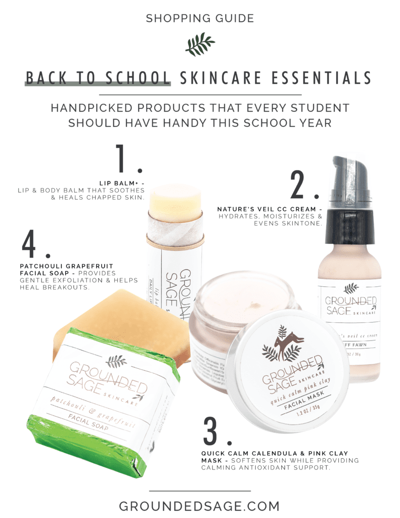 Back to school skincare essentials / green beauty / holistic skincare