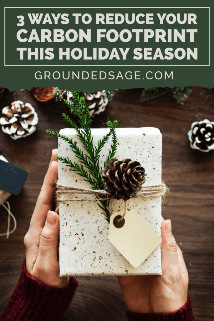 sustainable gift giving/ carbon footprint / green beauty / eco gift guide / christmas shopping