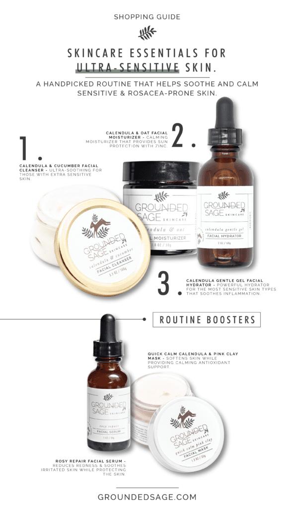 Natural Skincare Routine for Sensitive Skin - botanical skin care