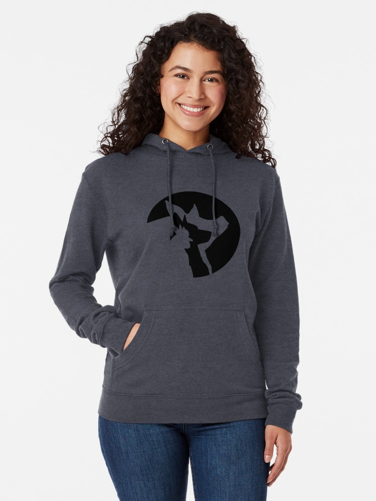 Lily's Place Lightweight Hoodie - black logo