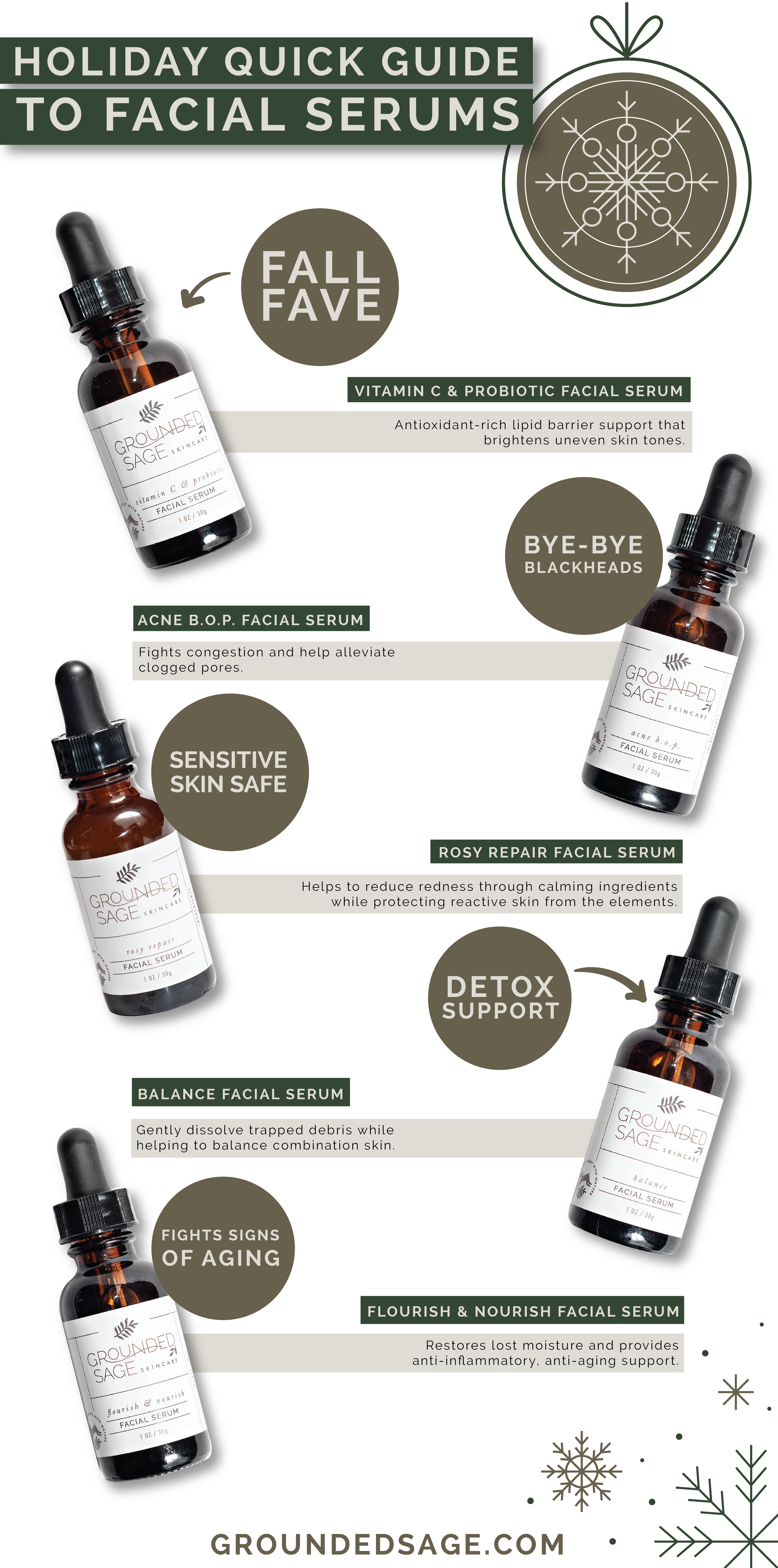Cruelty Free Skin Care - Holiday quick guide to face serums / clean skincare / acne / sensitive skin