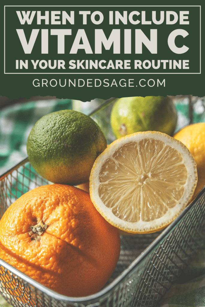 vitamin C for skin - benefits in skincare for face - vitamin c serum
