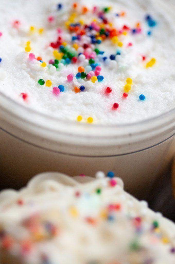 Buttercream Icing Birthday Sprinkles Body Scrub - Vanilla Body Polish Sugar Scrub - Healthy Skincare