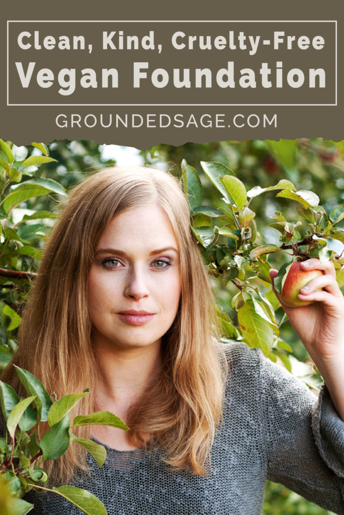 Cruelty Free, Vegan Foundation from Canadian Indie Beauty Brand Grounded Sage Skincare. Made in Canada and all profits help animals at Lily's Place Animal Sanctuary
