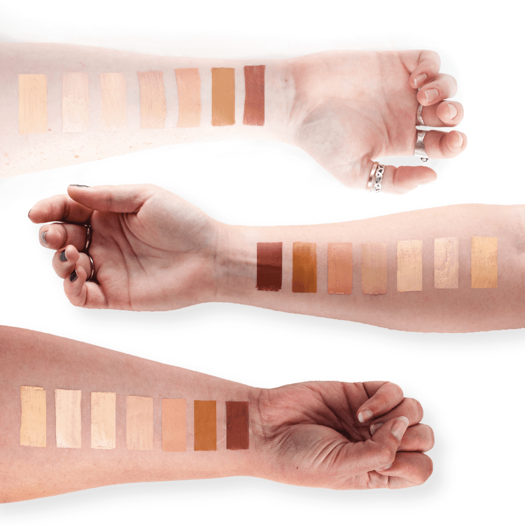Natural Flawless Foundation Swatches - Everyday Simple Makeup