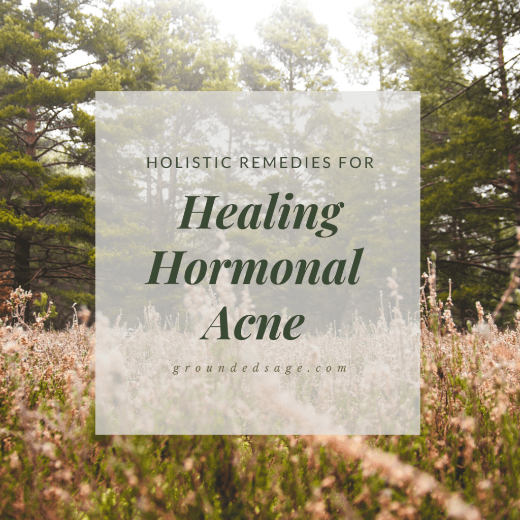 Natural healing remedies for hormonal acne on chin and jawline - holistic skincare