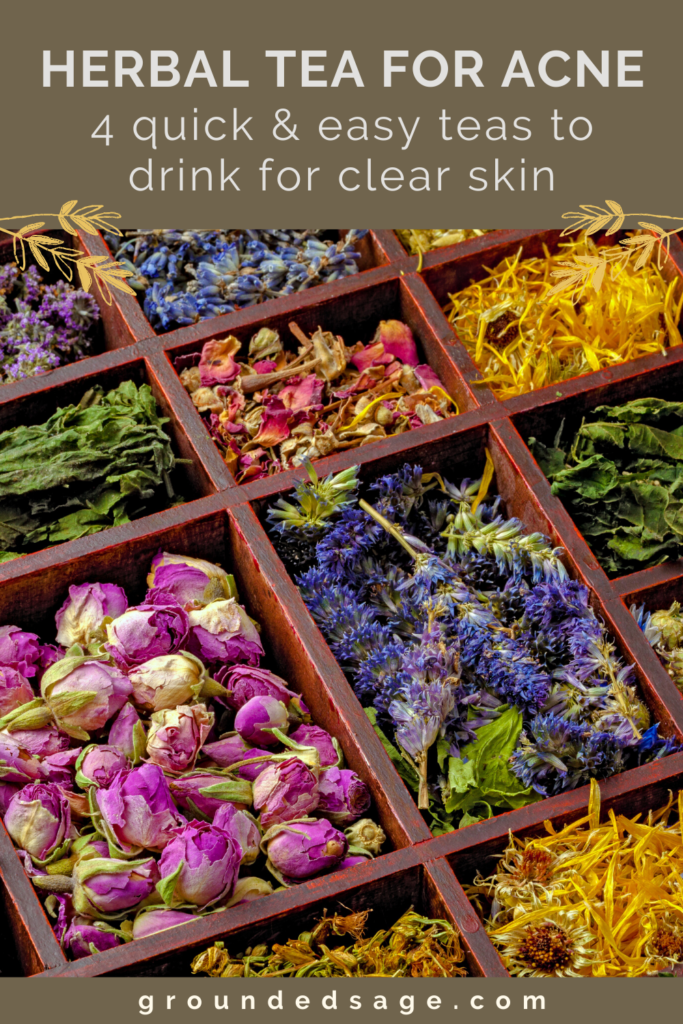 the best herbal tea blends for acne. The benefits of herbal teas for clear skin. Holistic health remedies. Natural healing tips for organic beauty health and wellness
