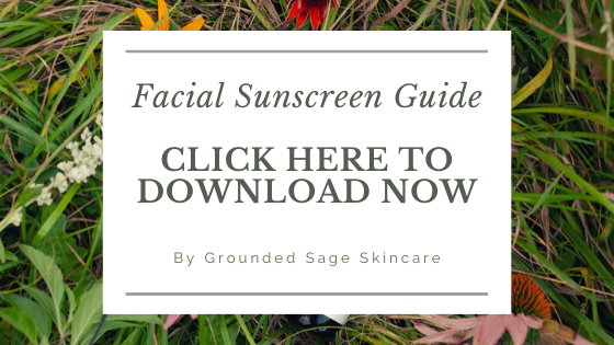 Download the free green beauty guide to mineral sunscreen for your face including the best natural sun protection for oily skin, acne, and everyday daily skincare routines.