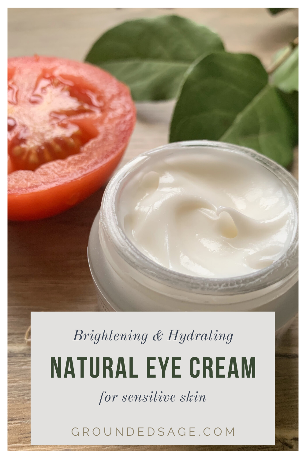 brightening and hydrating natural under eye cream for sensitive skin. Clean skincare products for healthy skin care routines.
