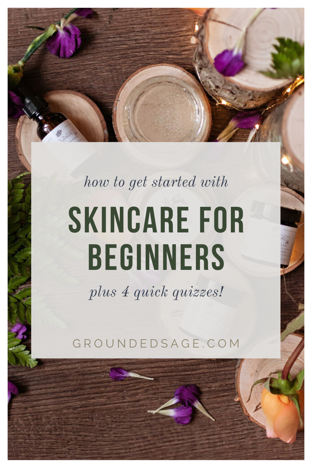 healthy skincare solutions for beginners. All natural routine products for organic face regimen when you're just getting started. How to know where to begin, what steps to take, and what order to swap out your products for cleaner options in when you want to correct sensitive skin, calm acne prone skin, or reduce redness from rosacea. Plus fun beauty quizzes to get you started with your skin type.