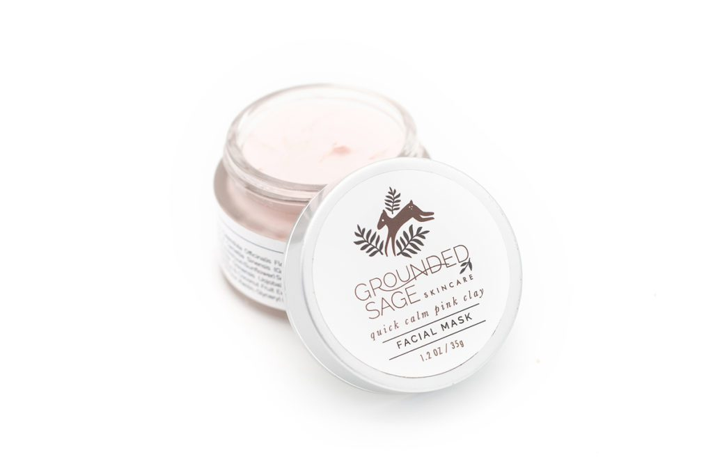 redness calming face mask with pink clay and calendula - redness reducing skincare and how to get rid of redness on face - getting to the root cause of redness