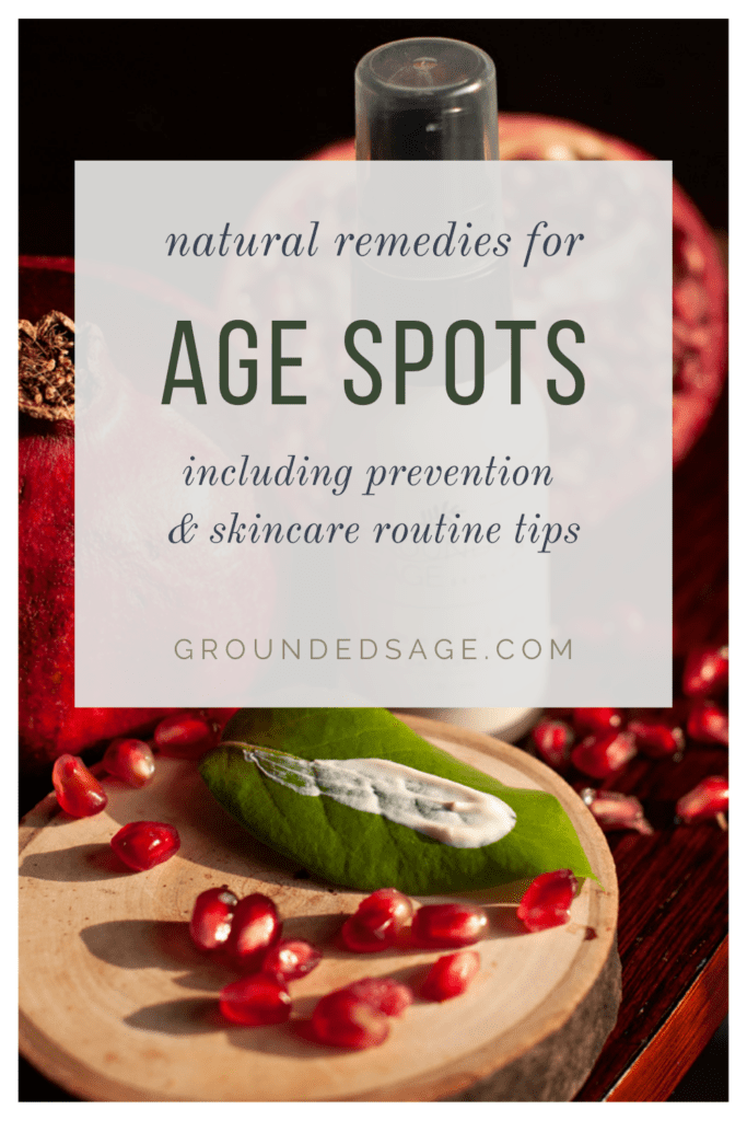 natural remedies for how to reduce age spots. organic skincare products that lighten, fade, or reduce age spots overtime. Healthy treatment for age spots of face or hands