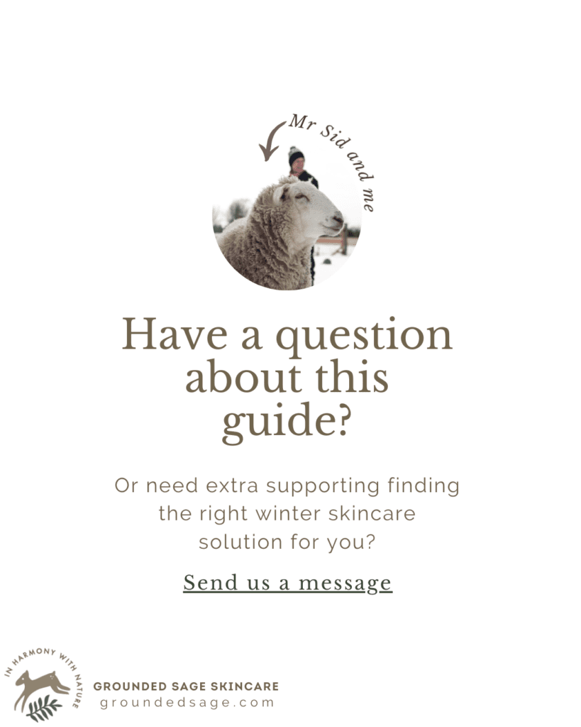 Need help with your winter skincare solution - get natural skincare advice for your skin by contacting us