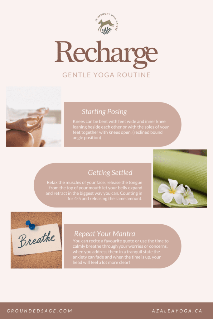 Recharge yourself with gentle restorative yoga at home. Sequence without props for reducing stress and beating the winter blues