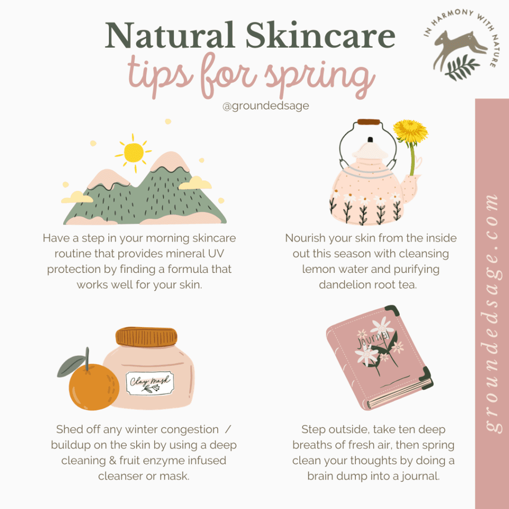 Slow Living Lifestyle Tips for Spring Skincare - routine activities for simple nature based wellness