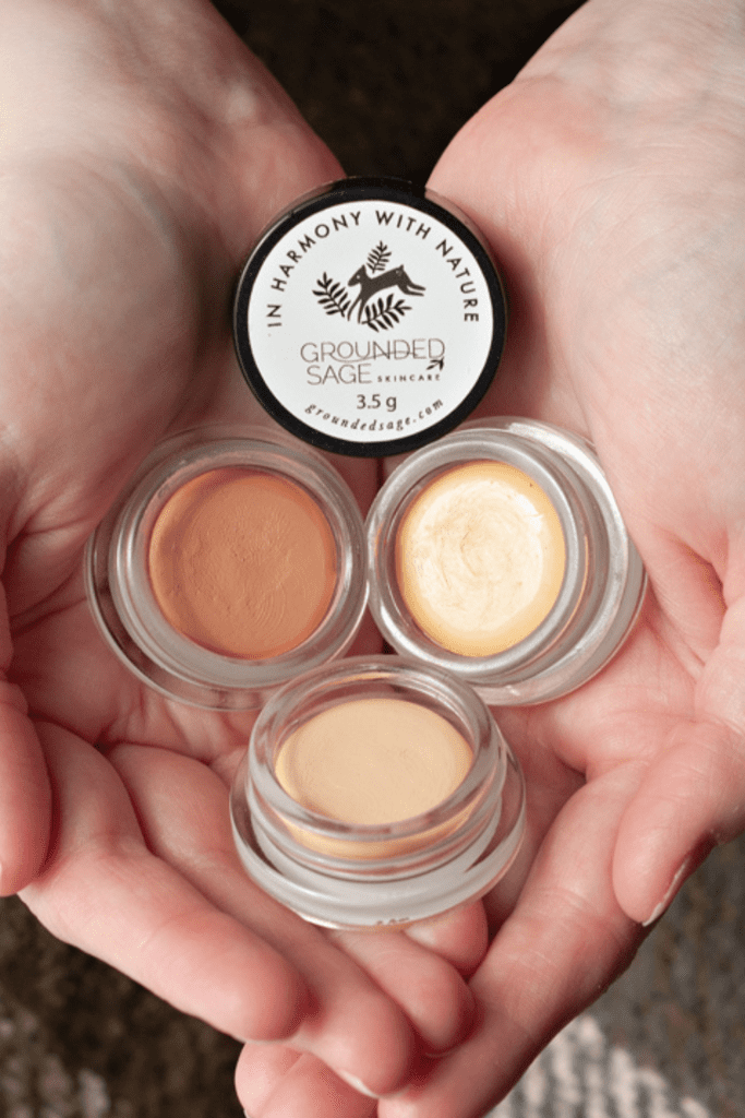 vegan pot concealers - cream concealer in glass eco friendly packaging - sustainable beauty products